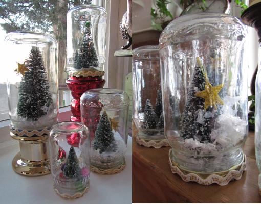 schneekugeln ohne wasser weihnachtsb ume aus tannenzapfen deukomtvsa. Black Bedroom Furniture Sets. Home Design Ideas